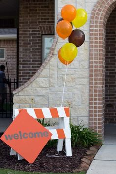 Construction Theme Party Decor | ... party. Guests will know that they're about to walk into a construction