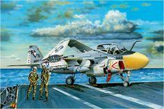 Grumman A-6E Intruder. Hobby Boss Avión de ataque con base en portaaviones, diseñado como sustituto del A-1 Skyraider, es el primer avión de ataque todo tiempo de la Navy. El A-6E, en la variante de la A-6A, donde los equipos electrónicos se han actualizado. Fue retirado en 1997. Más en www.elgrancapitan.org/foro