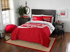 Coca-Cola - Bottles Entertainment Twin/Full Bedding Set 100% polyester red novel