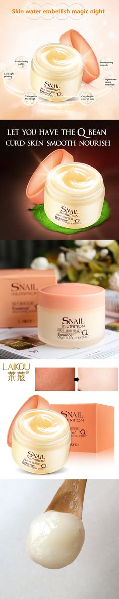 Snail Repair Cream Face Masks Night Sleeping Mask Cosmetics Snail Wrinkle Care Sleeping Pack  Deep Moisturizing Hydration LAIKOU