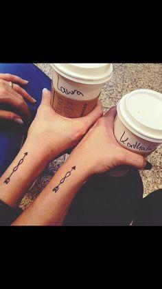 Love! Cute sister/friend tattoo! The