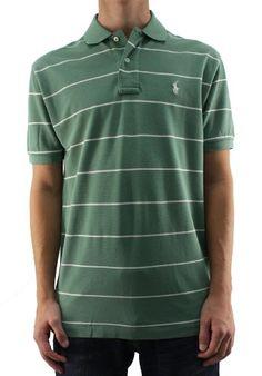 Polo Ralph Lauren Men's Green and Cream Striped « Clothing Impulse