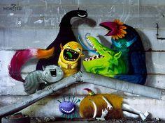 Montzer, el genial proyecto de arte urbano del alemán Kim Kwacz.