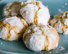Amaretti cookies are a family favourite and we make them often. They are crunchy on the outside and soft in the middle.