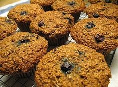 I swear by this recipe - it is the BEST! I typically make them with blueberries, but have tried other fruits as well. Farmgirl's Bran Muffin Recipe with 100% Whole Grains, No Sugar, and No Cereal.