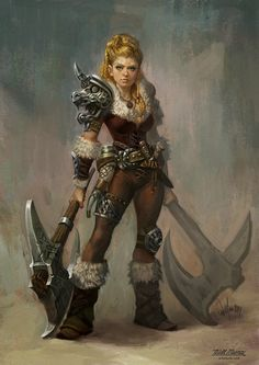 a collection of inspiration for settings, npcs, and pcs for my sci-fi and fantasy rpg games. Fantasy Warrior, Fantasy Rpg, Medieval Fantasy, Fantasy Artwork, Woman Warrior, Female Viking Warrior, Female Warriors, Pictish Warrior, Elf Warrior