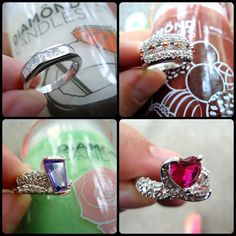 www.diamondcandles.com #rings #jewelry #DiamondCandles #candles #decor