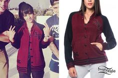 becky g varisity cardigan sweater | becky g filming the music video for quiero bailar on september 19 2013 ...