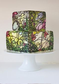 Stained Glass Cake by Craftsy user pamz9 | Erin Gardner | Craftsy