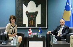 Mustafa priti në takim ambasadoren e Kanadasë, Louise LaRocque