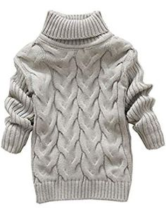LittleSpring Little Boys Sweater High Collar