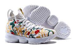 "1d09f877615919 KITH x Nike LeBron 15 ""Floral"" For Sale Logo Basketball"