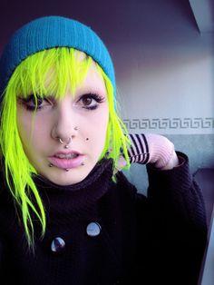 So bright! Neon hair...