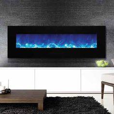 """Amantii 60"""" Wall Mount Electric Fireplace WM-FM-60-7023-BG"""