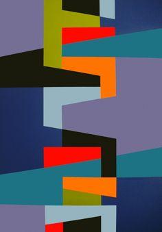 SANS QUEUE NI TETE - Peinture,  81x116 cm ©2013 par NATHALIE LEBEAU -                                                            Minimalisme, Toile, Art abstrait,