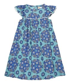 Look at this Dark Turquoise India Rose Dress - Toddler & Girls on #zulily today!