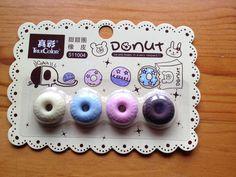 Cute Eraser Rubber Donut Doughnut Pretty Kawaii Stationery School. http://www.ebay.co.uk/