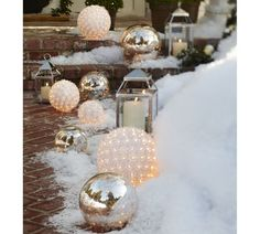 lit allium flower - Pottery Barn Outdoor Christmas Decorations
