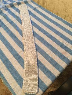 Grey & white tweedy scarf