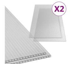 vidaXL 2 darab polikarbonát lemez 4,5 mm 150 x 65 cm Wall Panelling, Building Designs, Display Stands