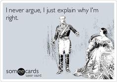 No argument here!