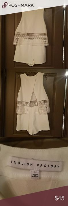 White Romper Midriff bearing. Worn once English Factory Other