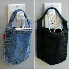 Don't Toss Your Old Jeans Here Are Fun And Creative Crafts You Do With Them is part of Denim crafts - Right when you thought your denim had seen it's last days, think again Jean Crafts, Denim Crafts, Art Crafts, Recycled Denim, Recycled Crafts, Sewing Hacks, Sewing Projects, Sewing Tips, Artisanats Denim