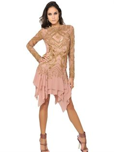 EMILIO PUCCI - EMBROIDERED SILK GEORGETTE DRESS - LUISAVIAROMA - LUXURY SHOPPING WORLDWIDE SHIPPING - FLORENCE