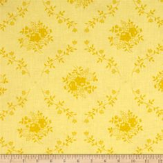 "108"" Wide Quilt Back Fleur Yellow from @fabricdotcom  This 108'' wide quilt backing features a floral damask pattern. It is perfect for quilt backing, duvets, light curtains and more!"