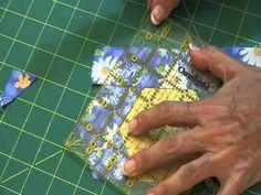 Learn how to make Log Cabin Hexagons using this easy method.  @FonsandPorter.com