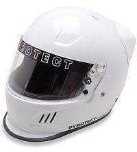 Pro Airflow SA2010 Series Full Face Duckbill White Motorcycle Helmet #PyrotectHelmets