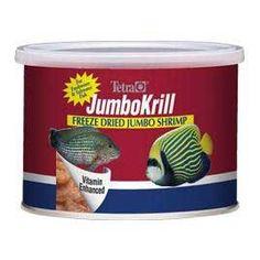 Tetra JumboKrill Freeze Dried Jumbo Shrimp - 1.4 oz - ON SALE! http://www.saltwaterfish.com/product-tetra-jumbokrill-freeze-dried-jumbo-shrimp-14-oz