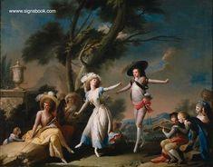 "José Camarón y Bononat (Spanish 1731-1803) A Festival (aka ""The Bolero"")(c. 1785) Oil on canvas 83 x 108 cm. Museo del Prado Madrid"