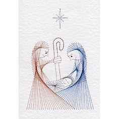 Christmas Nativity | Christmas patterns at Stitching Cards.