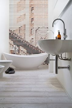 modern beach house style | Flickr - Photo Sharing! Light wood tiles.