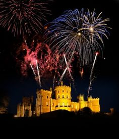 Fireworks a Belvoir Castle for your wedding; this is not the Belvoir Fireworks Competition - great image and a fantastic way to end your celebration!