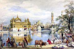 pakizah: The Golden Temple Amritsar, India Watercolour on paper V Collection Harmandir Sahib, Golden Temple Amritsar, Colonial India, V Collection, Incredible India, Sri Lanka, My Arts, Museum, History
