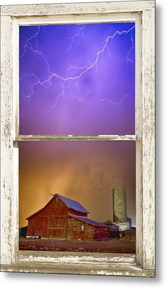 Colorful #Storm Farm House #Window View - Ready To Hang Metal #WallArt Print By James Bo  Insogna - #insognaGallery #art