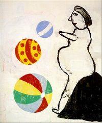 Balzac After Rodin by Donald Baechler