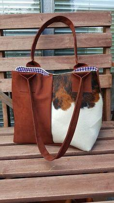 """KUHIE®, Kuhfell Tasche """"Shoppie"""" braun-weiß von KUHIE ®:  Die Taschen mit Kuh !!! auf DaWanda.com"""