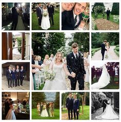 Tanya Burr & Jim Chapman wedding 09.06.15. This collage made my week!