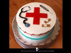 NURSE Cake (decorated with buttercream)          ~ Source: Cake Central / PartyCakesByAmy ♥______________________________ Posted by Dr. Veronica Lee, DNP (Depew/Buffalo, NY, US)