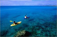 Take a #kayaking trip around the crystal clear waters surrounding #BluffHouse in the #Bahamas #travel #vacation
