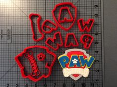 Paw Patrol Logo Cookie Cutter Set JBCookieCutters.com customizes moldings, cookie cutters, cookie cutter, cutters, cutter, silicone mold, silicone molds, stencil, stencils, baking supplies, baking