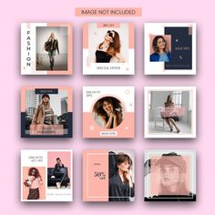 Discover thousands of Premium PSD available in PSD and JPG formats Layout Do Instagram, Story Instagram, Instagram Post Template, Instagram Design, Feeds Instagram, Instagram Grid, Instagram Posts, Plakat Design, Web Design