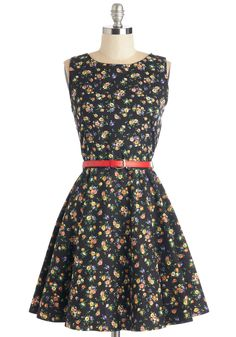 I Flare Say Dress. May we be so bold as to asses this black cotton dress as a splendid match for a stylista such as yourself?  #modcloth