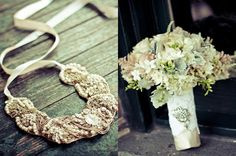 Brides Bouquet & Her Jewerly  www.beesweddingdesigns.com