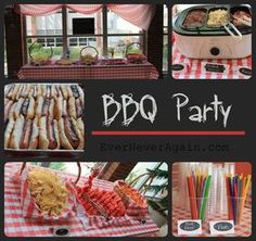 Hot dog stand BBQ party