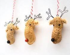 Preschool Crafts for Kids*: Peanut Reindeer Christmas Ornaments Craft.  This might be something my students could make.  Add school colors.