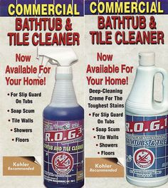 Good Made For Commercial Use But Now Ava For The Home This First Bottle Is A  Light. Bathtub CleaningClean BathtubCleaning BathroomsBest ...